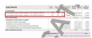 Duplicata de facture d'électricité