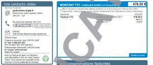 Impression écran d'un portail client sur internet