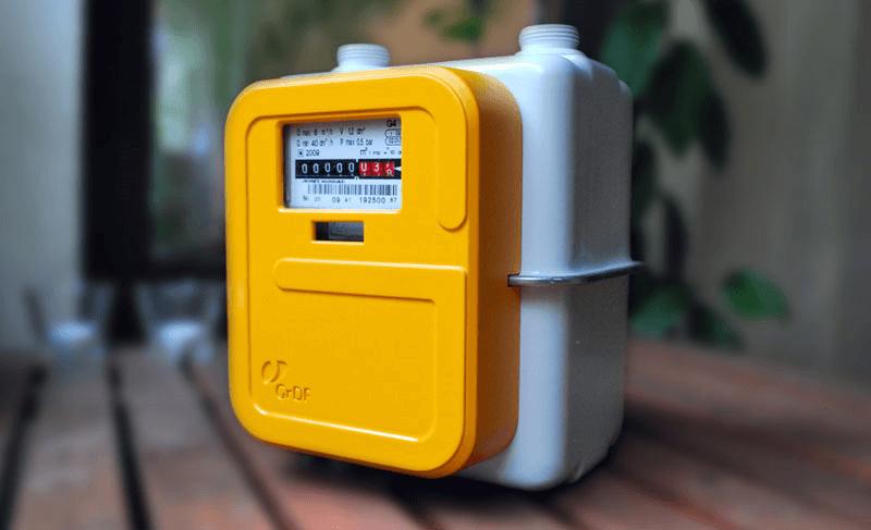 Compteur à gaz jaune Gazpar