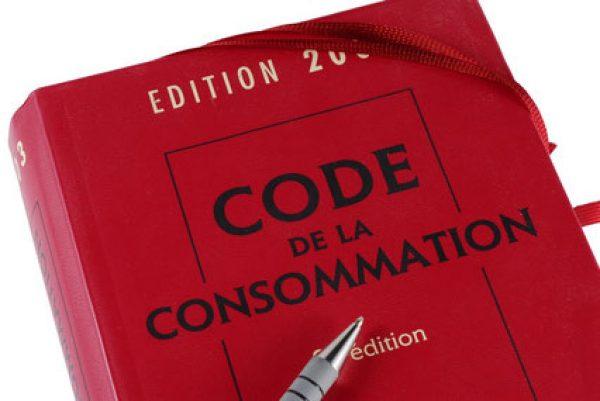 Photo du code de la consommation