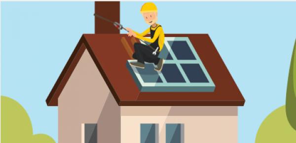 Illustration d'installation de panneaux solaires