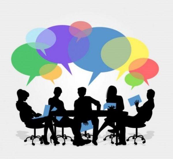 Illustration d'une réunion de groupe