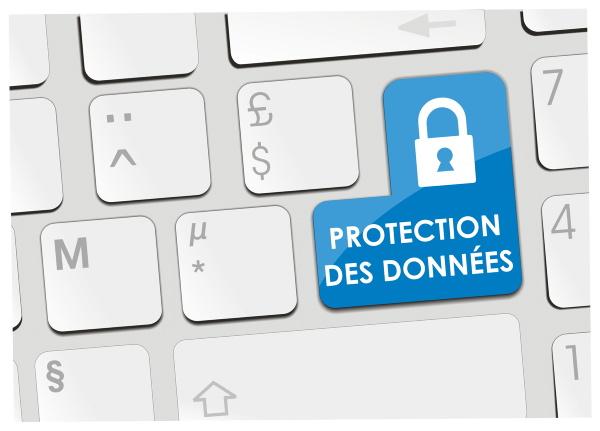 clavier d'ordinateur avec une touche sécurisation informatique clavier protection des données